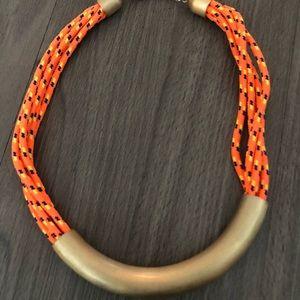 Orange Cord Necklace